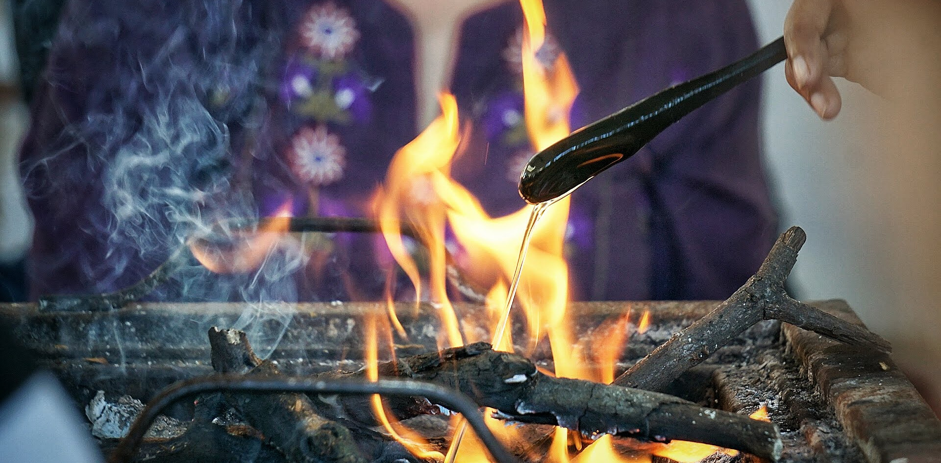 Fire Ritual at Phool Chatti Ashram, Rishikesh
