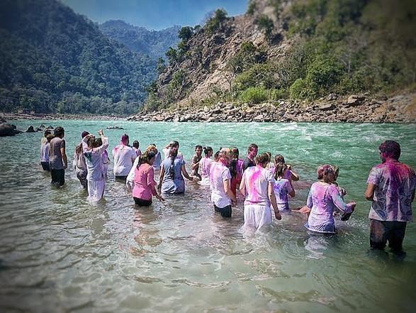 Ganga Bathing in the Holi 2020