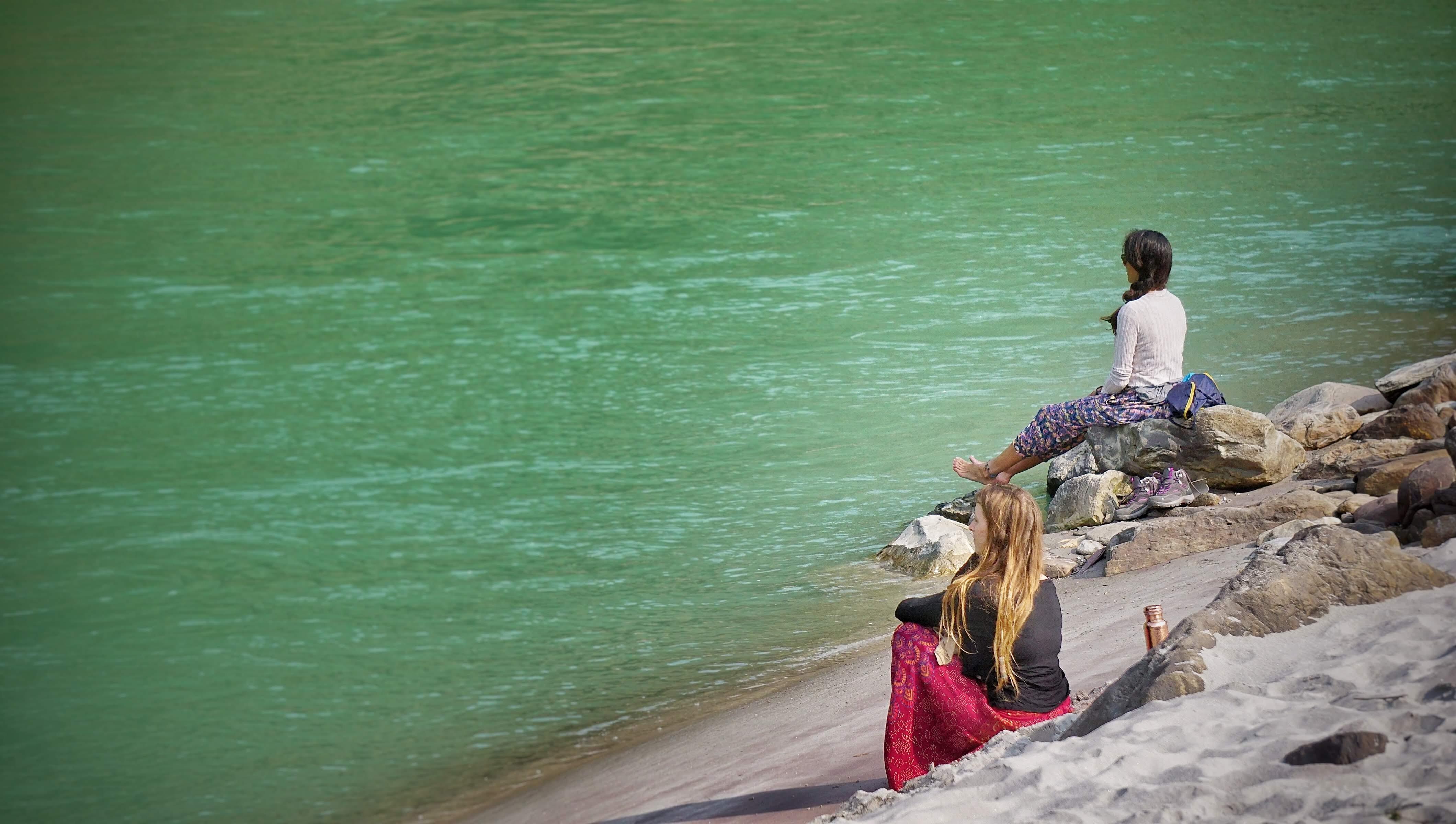 Meditation by the Ganga
