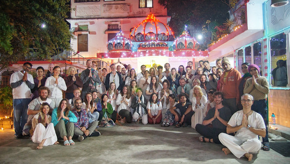The students at Diwali Festival