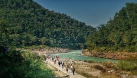 The way to the Ganga Ceremony
