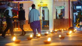 The diyas ready for Diwali