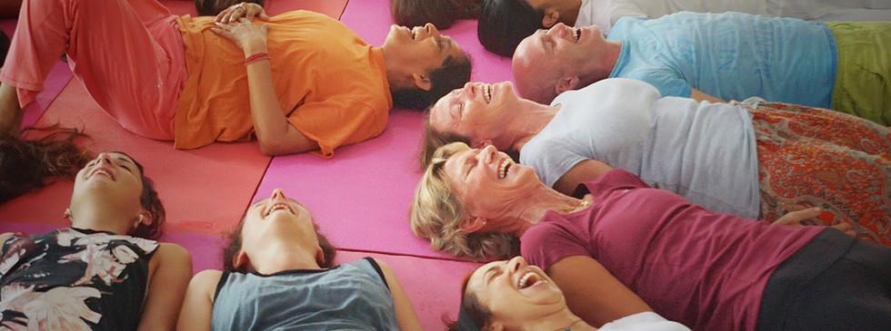 Laughter Yoga at Phool Chatti Ashram in Rishikesh