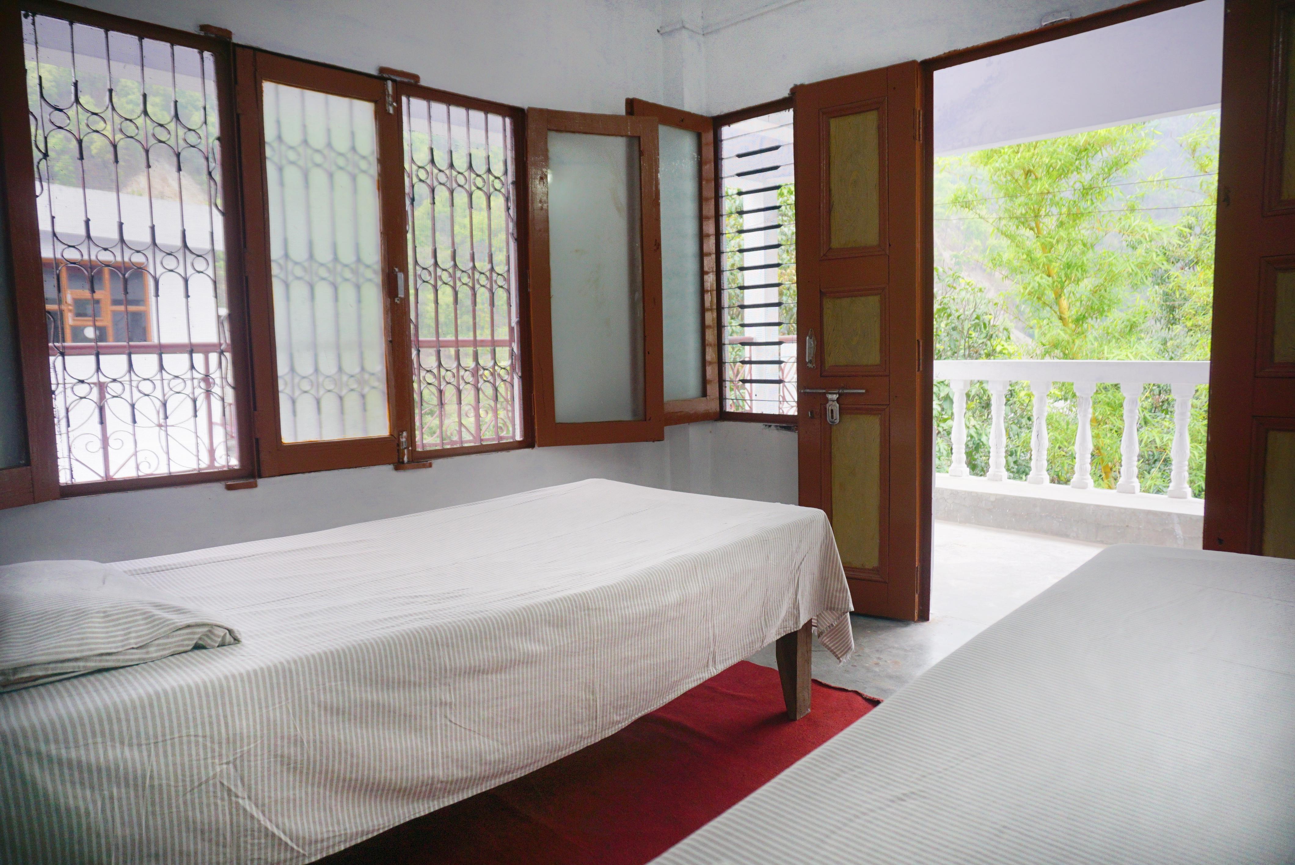Garden View Room at Phool Chatti Yoga Ashram in Rishikesh