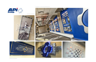 APi Group Interior Design Branding for Corporate Hallway.