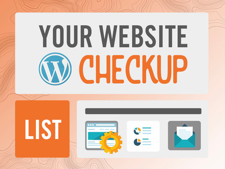 Yearly Website Maintenance Check-Up List