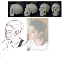 Ilustração digital realizado por estudante do curso de Anatomia Analítica da Skilltree