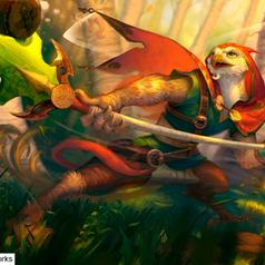 Ilustração digital realizado por estudante do curso de Ilustração para Games da Skilltree