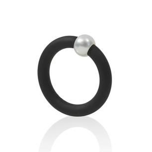 Kugel-Ring-Kautschuk-Schwarz-Perle-kr117