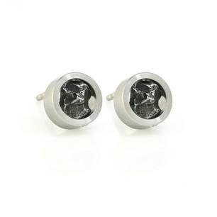 Natur-Ohrstecker-Stahl-Meteorit-no109st-