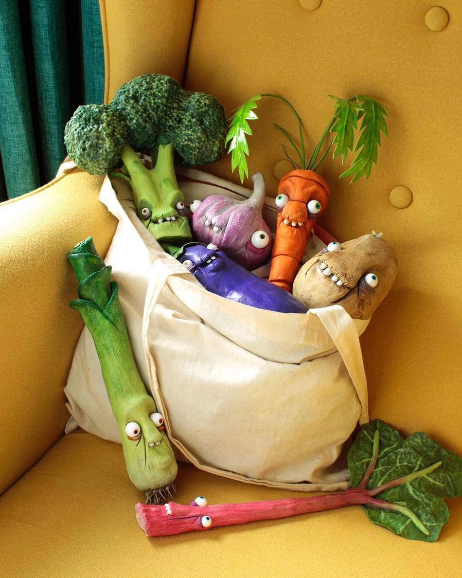 A fresh bag of taxidermy veg