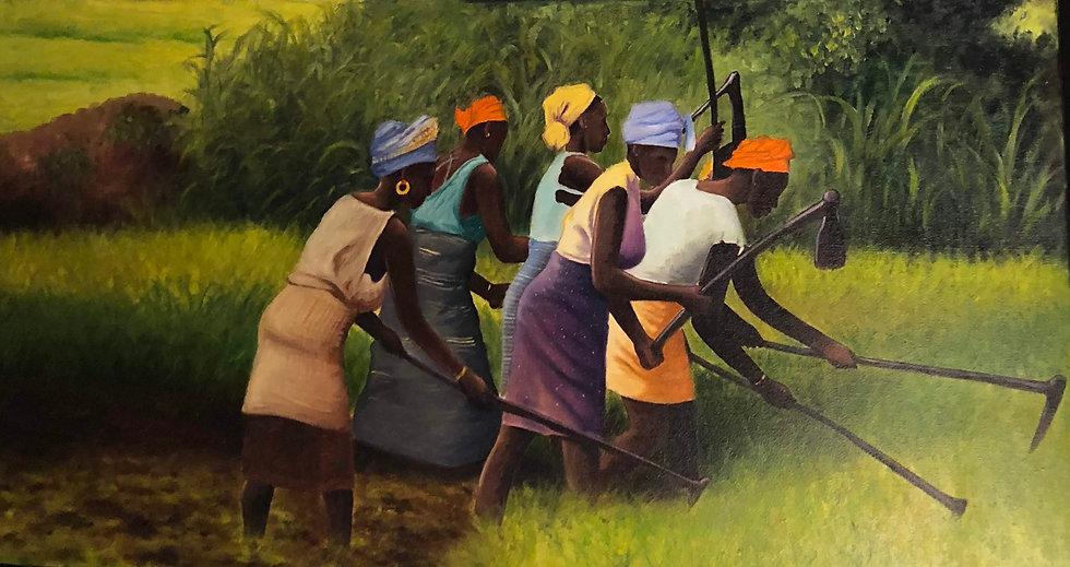Women Sowing I by Harry Ellis