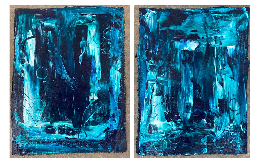 Abstract Diptych 2 by Jon Cashion