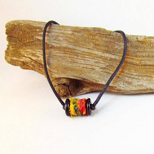 Basic Black Bobbin Bead Necklace