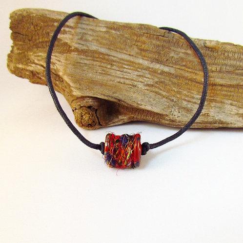 Brown Sparkle Bobbin Bead Necklace
