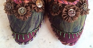 shoes beads yarn felt antique buttons fabric