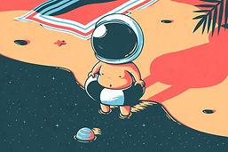 Schwimmen Astronaut