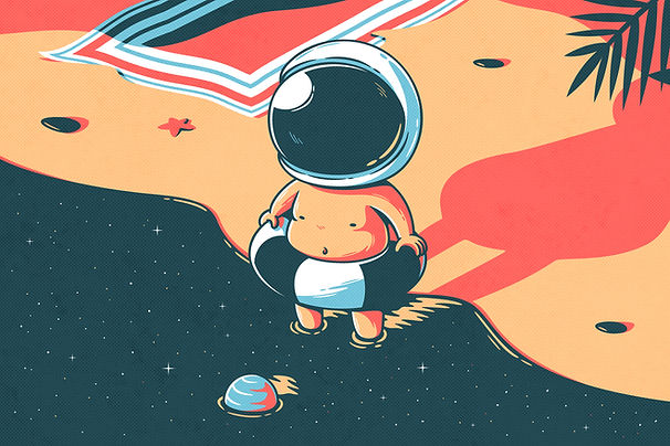 Swimming Astronaut