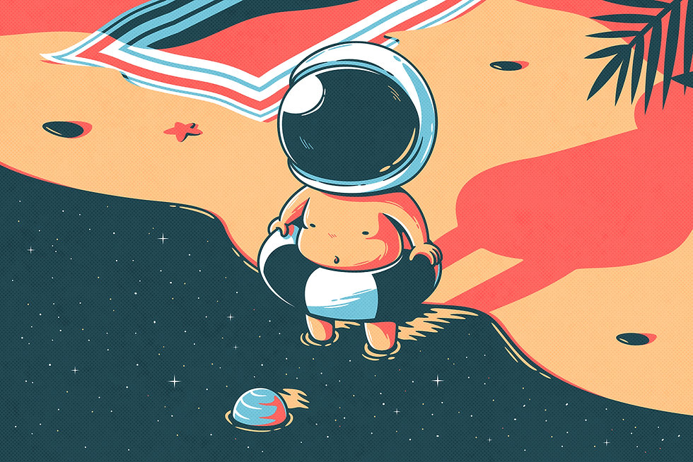 Swimming Astronaut