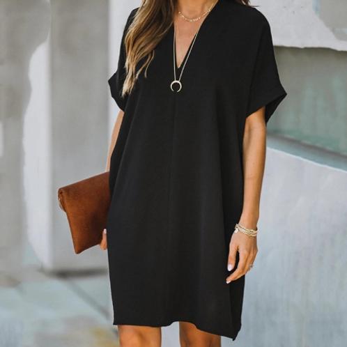 V-neck Loose Dress