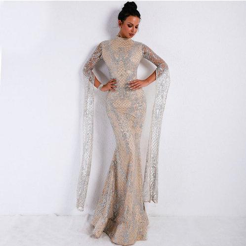 Silver fishtail dress