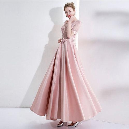 Solid Color Floor Lenght Formal Dress