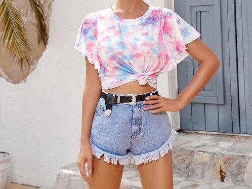 Multicolor tie dye t-shirt