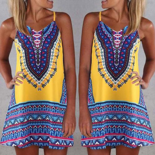 Ethnic Print Leisure Sling Dress