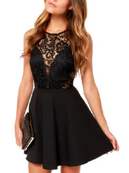 Casaul Lace Mini Dress