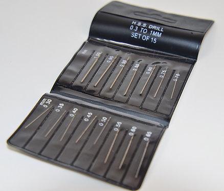 0.3 - 1mm H.S.S Drill Bit Set