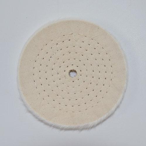 "6"" Thick Soft Polishing Wheel - 1/2"" Center"