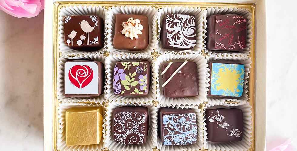 12 Piece Assorted Chocolates