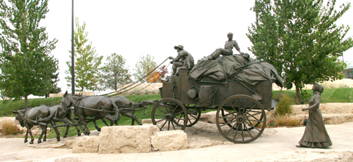 Final  Bronze Wagon - cropped  tweaked - poster