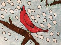"Chloe E.   ""Winter Cardinal"""