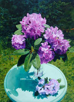 Rhododendron with Green Table