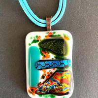 "Marylou Bono | ""Color Collection - Fused Glass Pendant A"""