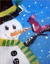 """Ahana S.   """"Snowman with a Bird!"""""""