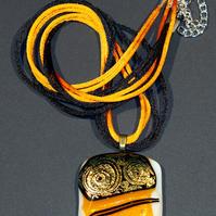 "Marylou Bono | ""Color Collection - Fused Glass Pendant B"""