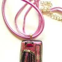"Marylou Bono | ""Bold Collection - Fused Glass Pendant E"""