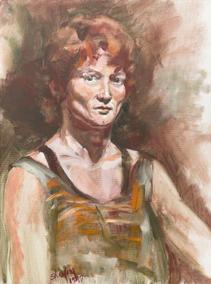 "Ellen Sherfey | ""4 Pigment Self-Portrait"""