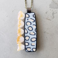 "Margaret Polcawich | ""Side Bloom Pendant Necklace 2"""