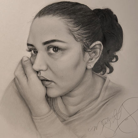 Melissa Solley Graphite Self-Portrait