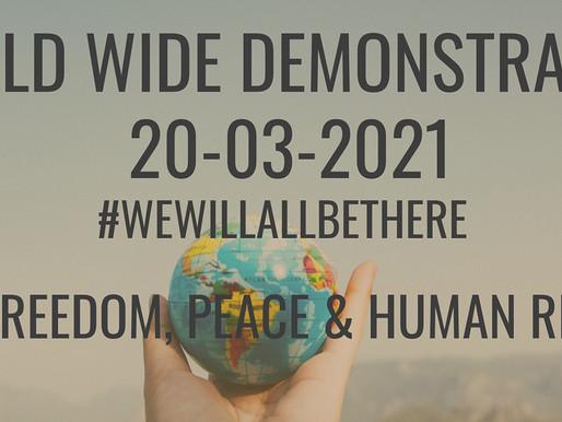 #WorldWideFreedomRally: Manifestación Mundial por la Libertad, la Paz y los Derechos Humanos