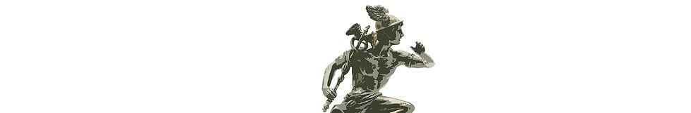 Estatua de Hermes como logo de El Mensajero Audaz