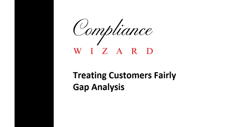 Treating Customers Fairly Gap Analysis Template