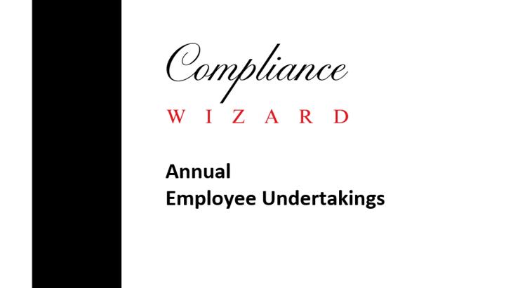 Annual Employee Undertakings Template