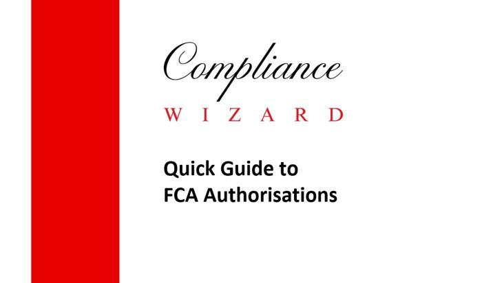 FCA Authorisation Guide