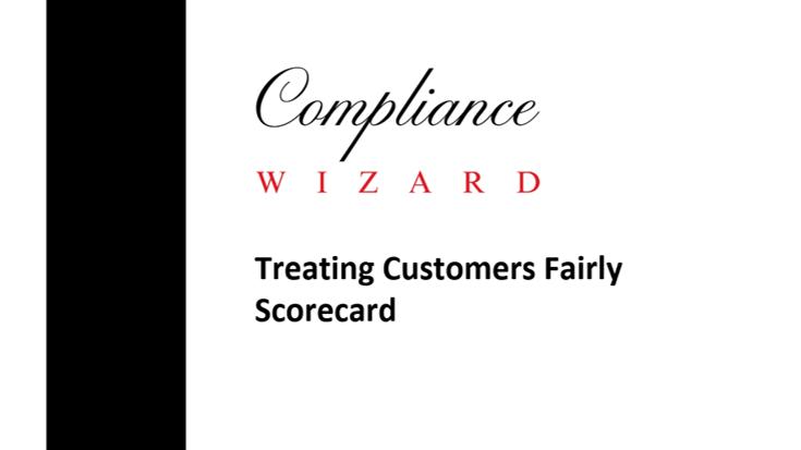 Treating Customers Fairly Scorecard Template