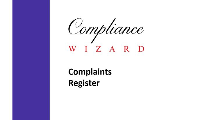 Complaints Register