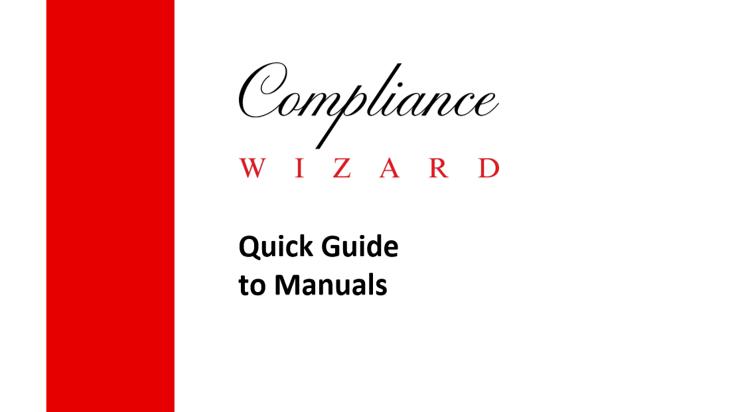 FCA Manuals Guide